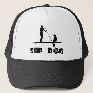 SUP Dog Sitting Trucker Hat
