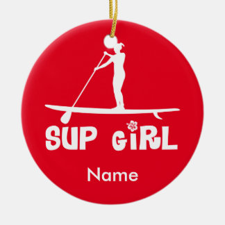 SUP Girl Ceramic Ornament