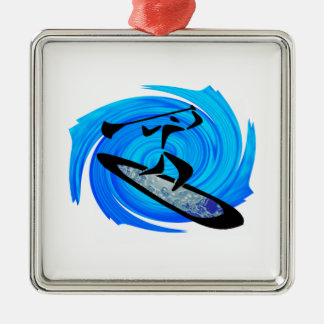 SUP GOES IT METAL ORNAMENT