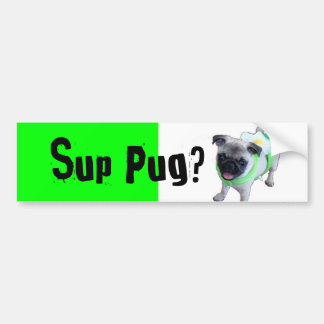 Sup Pug? Bumper Sticker
