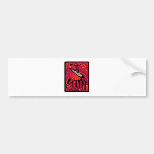 SUP RED SONG BUMPER STICKERS