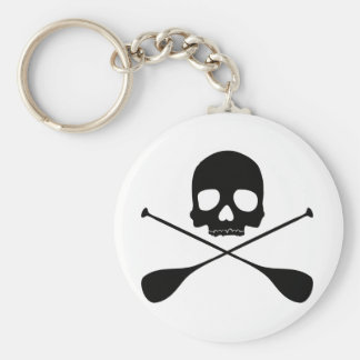 SUP Skull Basic Round Button Key Ring