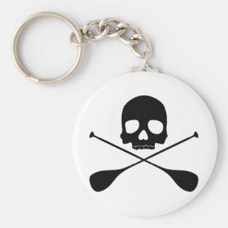 SUP Skull Basic Round Button Key Ring
