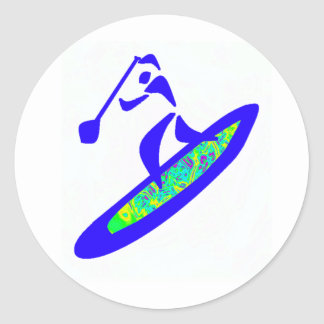 SUP WITH GROOVE ROUND STICKER