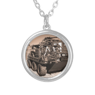 Supacat. The  all terrain six wheeled army vehicle Silver Plated Necklace