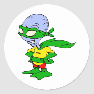 Super Alien Man Stickers
