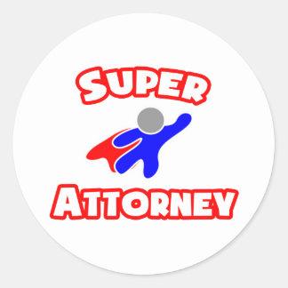 Super Attorney Sticker