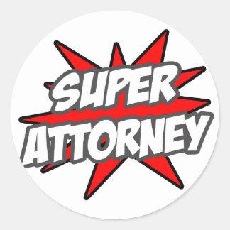 Super Attorney Stickers
