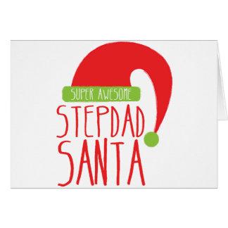 Super AWESOME Stepdad santa Card