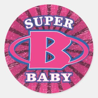 Super Baby Girls Round Sticker