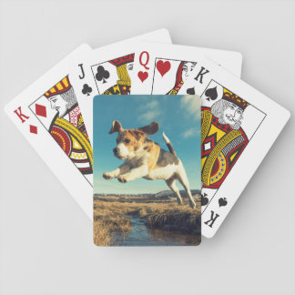 Super Beagle Dog - Playing Cards
