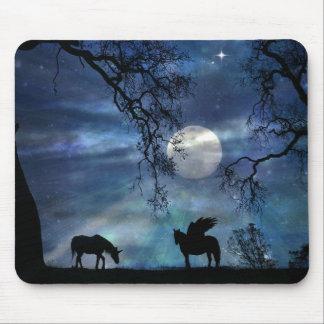 Super Beautiful Unicorn and Pegasus Mousepad