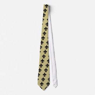 Super Black Fleur de lis Tie