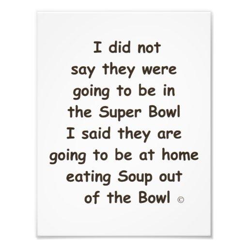 Super Bowl Poster Photo Print