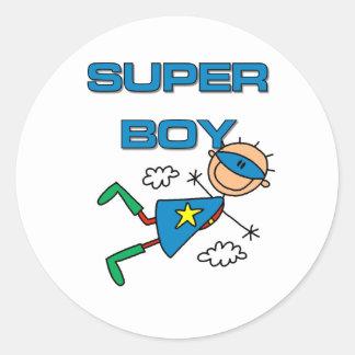 Super Boy Round Stickers