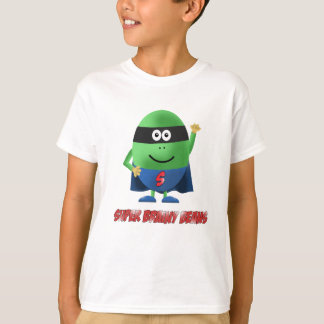 Super Brainy Beans character kids t-shirt
