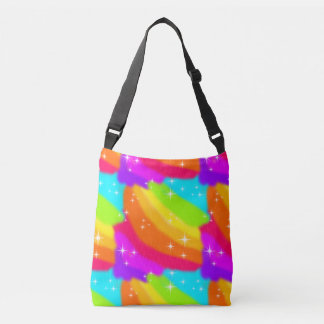 Super Bright Neon Rainbow Shiny Sparkles Crossbody Bag