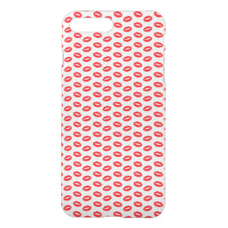Super Bright Neon Red Lips On White iPhone 7 Plus Case
