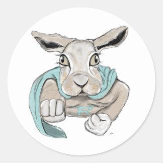 Super Bunny Classic Round Sticker