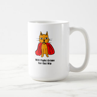 Super Cat Fight Crime For Catnip ( add your name ) Coffee Mug