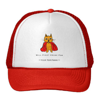 Super Cat Fight Crime For Your Text Name Trucker Hat