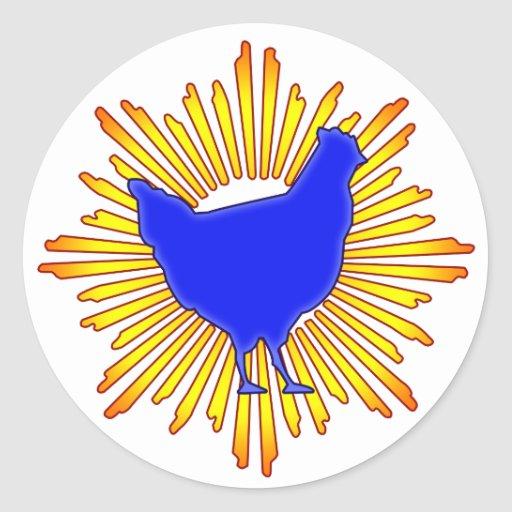 Super Chicken Round Sticker