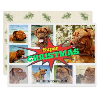 Super Christmas Speech Bubble Photo Collage Card