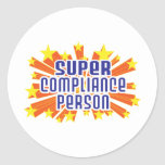 Super Compliance Person Round Stickers
