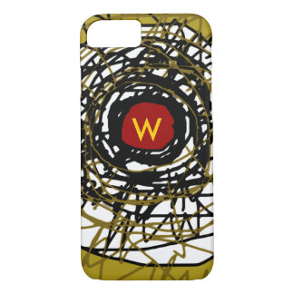 super-cool abstraction with initial iPhone 7 case