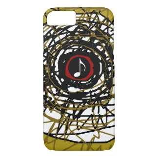 super-cool abstraction with musical-note iPhone 7 case