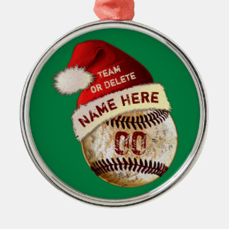 Super Cool Baseball Player Ornaments, Personalised Metal Ornament