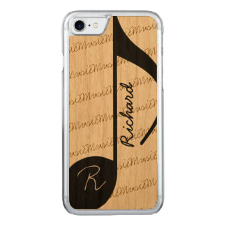 super-cool black musical-note carved iPhone 8/7 case