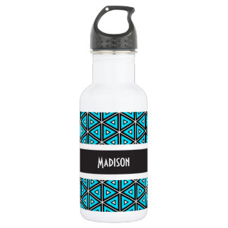 Super Cool Blue Abstract w/Name 532 Ml Water Bottle