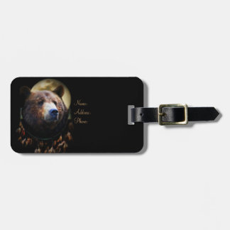 Super Cool Native American Bear Luggage Tag