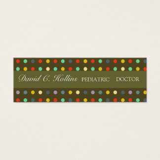 Super Cool Pediatric Doctor Mini Business Card