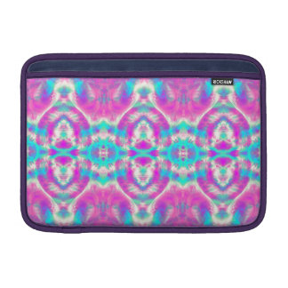 SUPER COOL Pink and Blue Abstract Pattern MacBook Sleeve