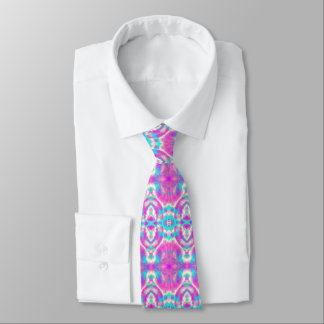Super Cool Pink and Blue Abstract Pattern Tie