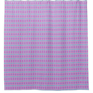 SUPER COOL Pink and Blue Pattern Shower Curtain