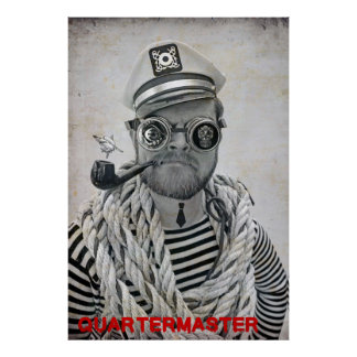 Super Cool Pirate Quartermaster Poster! Poster