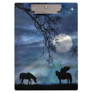 Super Cool Unicorn and Pegasus Clipboard