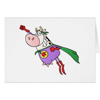 Super Cow Cartoon Card