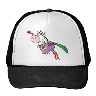 Super Cow Cartoon Character Trucker Hat
