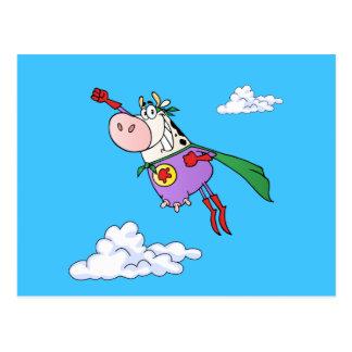 Super Cow Cartoon Postcard