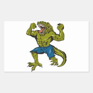 Super Croc Rectangular Sticker