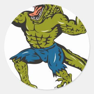Super Croc Round Sticker