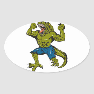 Super Croc Sticker