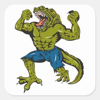 Super Croc Square Stickers