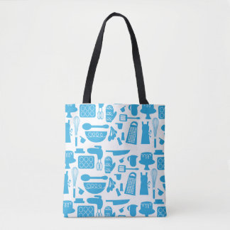 Super Cute Blue Kitchenware Tote Bag