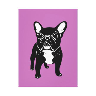 Super cute brindle French Bulldog Puppy Canvas Print