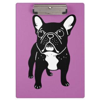 Super cute brindle French Bulldog Puppy Clipboard